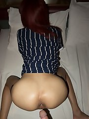 Sleek, Skinny LA Pushed-in Creampie