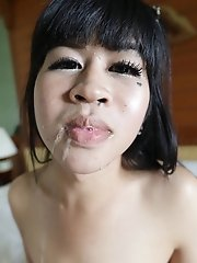 22 year old small tits Thai ladyboy gets naughty with white tourist