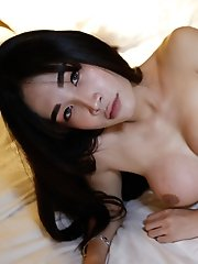 Petite 18yo Thai ladyboy blows and gets fucked by big cock